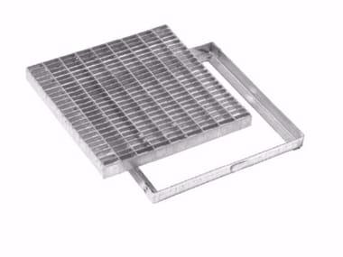 Griglia quadrata antitacco con telaio in acciaio zincato GRIGLIA QUADRATA ANTITACCO CON TELAIO