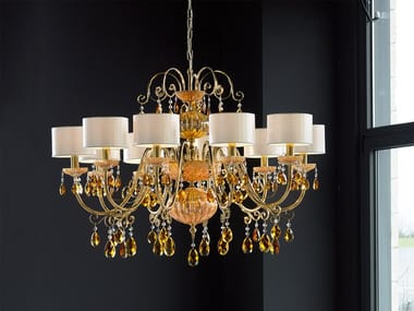 Iron chandelier with crystals ANTIKA 10