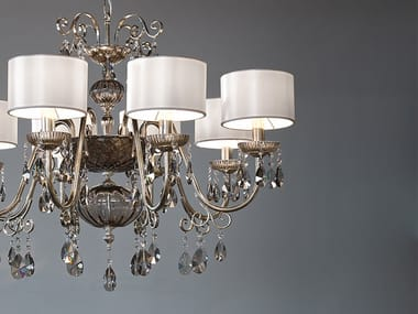 Direct light iron chandelier with crystals ANTIKA 8