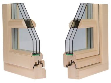 Finestra in legno con triplo vetro ANTIKA 80