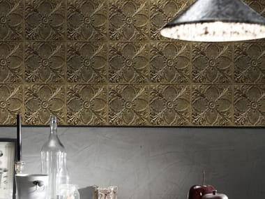 Washable vinyl wallpaper ANTIQUE TIN TILES (005) | Wallpaper