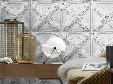 Washable vinyl wallpaper ANTIQUE TIN TILES (006) | Wallpaper