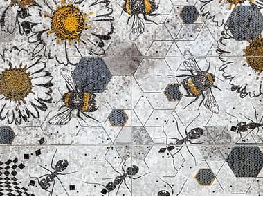 Natural stone mosaic ANTS & BEES