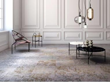Patterned plastic carpet tiles ANTWERP