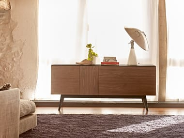 Wooden sideboard with drawers APERITIU