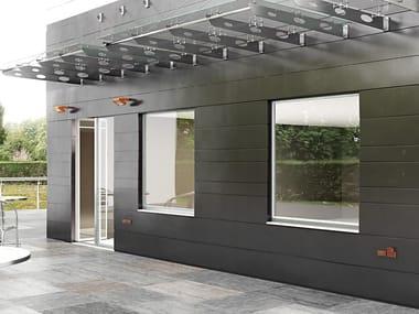 Aluminium casement window APHRODITE STRUTTURALE
