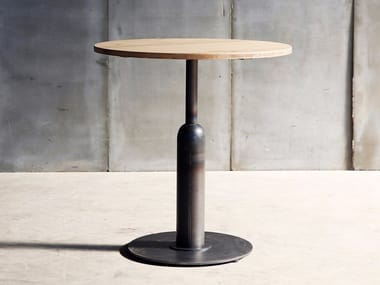 Round wooden table APOLLO MTM   Wooden table