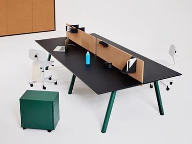 Operative desk with cork screen APOLLO | Office desk with overbridge