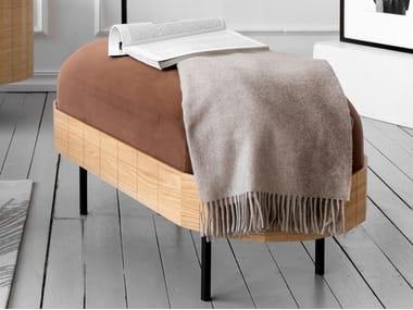 Upholstered velvet pouf APOLLO   Pouf