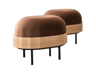 Upholstered velvet pouf APOLLO | Pouf
