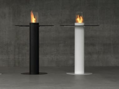 Contemporary style bioethanol open outdoor steel fireplace MINERVA TABLE