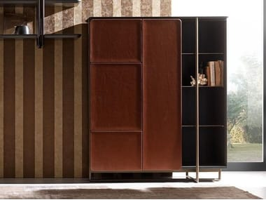 Leather highboard with doors APOTEMA | Highboard