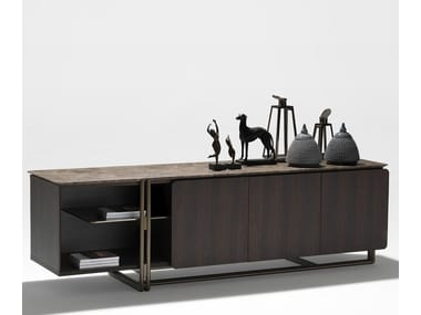 Lacquered sideboard with doors APOTEMA | Sideboard