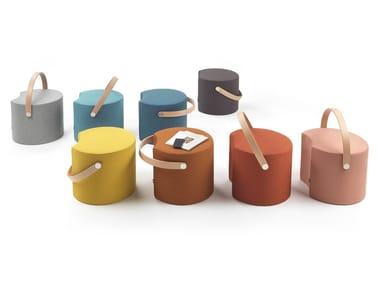Modular round fabric pouf APP