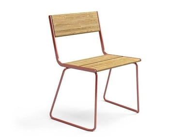 Lacquered steel outdoor chair APRIL GO | Chair