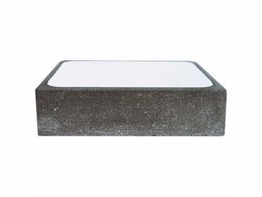 Rectangular stone washbasin AQ1