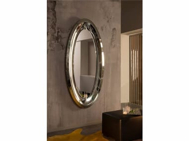 Espelho moldurado oval de parede AQUA | Espelho oval