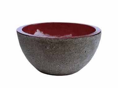 Round lava stone washbasin AQ3