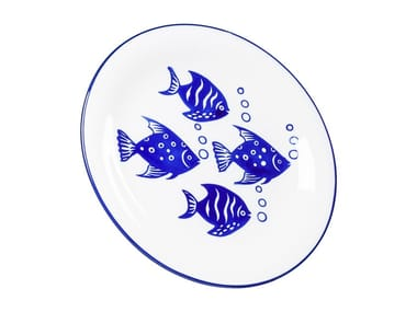 Porcelain stoneware plate AQUARIUM | Plate