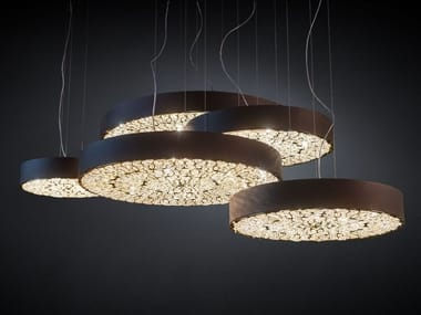 LED pendant lamp with crystals ARABESQUE CHRYSLER