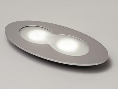 Plafoniera a LED in acciaio e vetro ARACHIDE