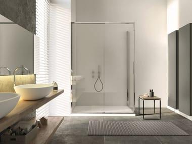 Box doccia angolare con porta scorrevole ARAXIS | Box doccia angolare