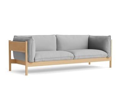 3 seater fabric sofa ARBOUR - OILED WAXED OAK
