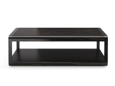 Rectangular wooden coffee table with integrated magazine rack ARC | Coffee table