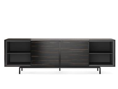 Wood veneer sideboard with sliding doors ARC | Sideboard