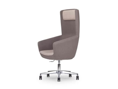 Swivel executive chair with 5-spoke base with casters ARCA | Executive chair