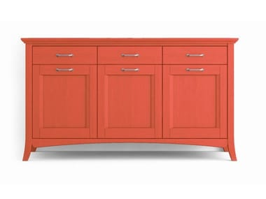 Wooden sideboard with doors with drawers ARCANDA | Sideboard with doors