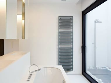 Vertical wall-mounted steel decorative radiator ARCHE BATH