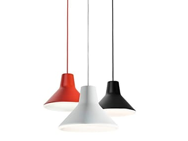 Aluminium and polycarbonate pendant lamp ARCHETYPE