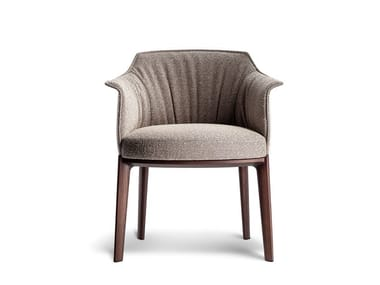 Upholstered fabric easy chair with armrests ARCHIBALD   Fabric easy chair