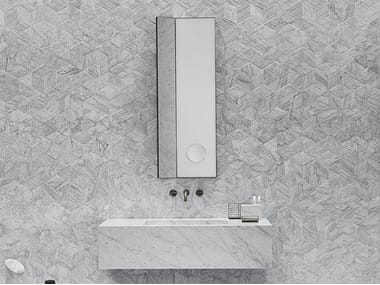 Rectangular wall-mounted mirror ARCHIMEDE | Rectangular mirror