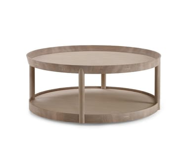 Low round wooden coffee table ARCHIPELAGO   Coffee table