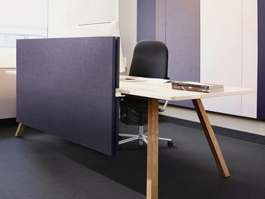 Fabric-based acoustic panels - table separators ARCHITECTS TEXTILE DESKTOP