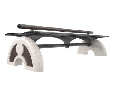 Panchina in acciaio senza schienale ARCO | Panchina senza schienale