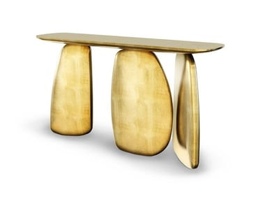 Gold leaf console table ARDARA