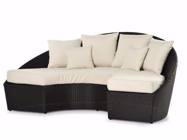 Semicircular sofa with synthetic fiber weaving ARENA | Sofa