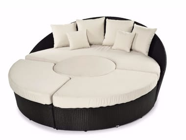 Round sofa with synthetic fiber weaving ARENA | Curved sofa