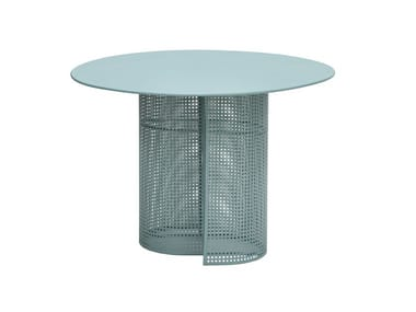 Round galvanized steel garden table ARENA | Table