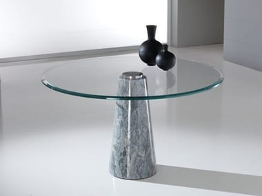 Round table with Crystal Stone® base and crystal top ARES