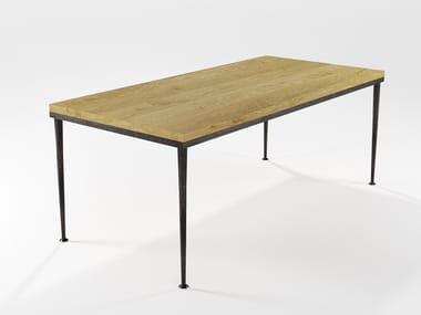 Mesa de jantar de madeira maciça ARGE | Mesa retangular