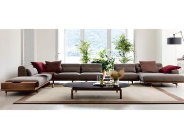 Sectional fabric sofa with storage space ARGO | Corner sofa