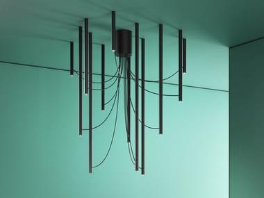 Anodized aluminium ceiling lamp ARI