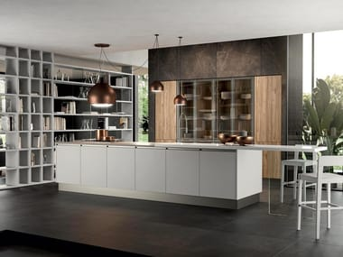 Fitted kitchen with island ARIA 02