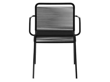 Stackable garden chair with armrests ARIA | Chair with armrests
