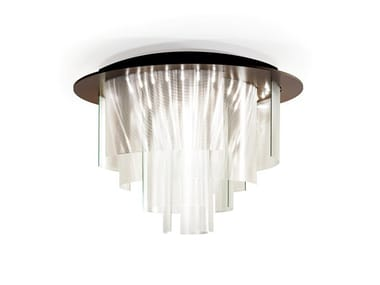 LED glass chandelier ARIA | Chandelier