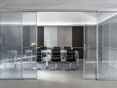 Sliding / Fixed glass and aluminium wall ARIA